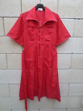 Robe VINTAGE stlye worker années 70 dress rouge seventies 40