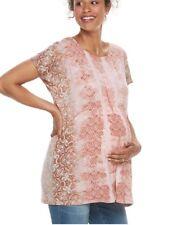 A : Glow Maternity Top Shirt Shirred Tunic NWT Size L $36