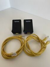 2 x Talktalk D- Link DHP-300AV Powerline Adapter And 2 x Yellow Ethernet Cables