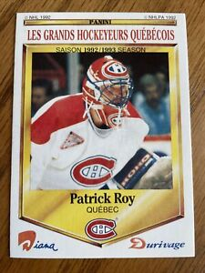 1992-93 Panini ( Durivage ) 50/50 *Made in Italy* Patrick Roy….NM-Mint! Rare!