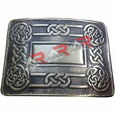 Men's Celtic Swirl Kilt Belt Buckle Silver / Highland Kilt Buckle Antique Finish