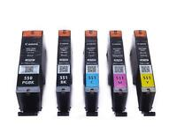 PGI-550 CLI-551 Genuine Original Canon Ink Cartridges Black Cyan Magenta Yellow