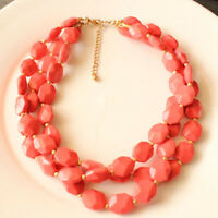 """New 18"""" Beads Multi-Strands Collar Necklace Gift Fashion Women Party Jewelry FS"""