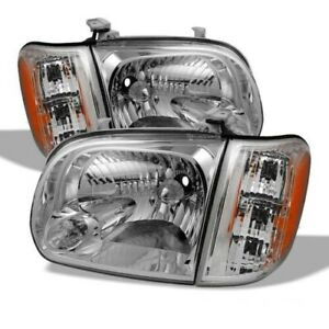 New Headlights Pair Right Left for Toyota Tundra 2000-2004 Pickup 4-Door 4pic