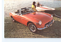 MG MGB for 1973 Classic Red Car R. A. Laughton Massachusetts