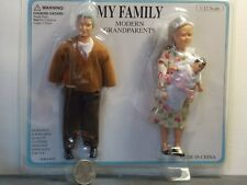 Dollhouse Miniature Doll Family Grandparents 1:12 inch scale K38 Dollys Gallery