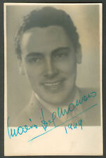 MARIO DEL MONACO  ITALIAN OPERA TENOR SIGNED  PHOTO 1949