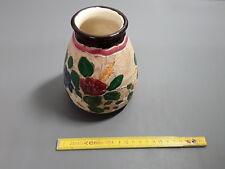 ancien Pot en céramique déco fleurs j. massier vallauris provence