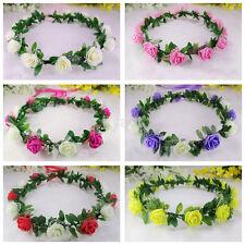 Fine Flower Crown Festival Headband Wedding Garland Floral Hairband Accessories