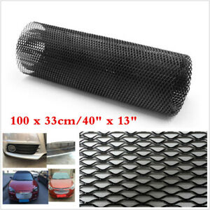 "Car Vehicle Body Grille Net 40X13"" Universal Aluminum Black Mesh Grille Section"