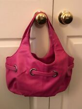 Avon Products Bright Pink Faux Leather Tote Bag Purse
