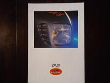 Prospectus moto Guzzi SP 3 lll 1000 Prospetto brochure