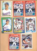 1990 Donruss #33 JUAN GONZALEZ Errors 2 &  6 Juan Gonzalez rookies Rangers Cards