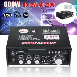 600W HiFi bluetooth Digital Power Amplifier Mini Stereo Audio Amp Car Home 12V