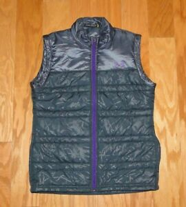 Under Armour Full Zip Puffer Vest Size YXL Blue Gray Purple Loose Fit UA Girl's
