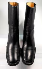 BALLY FOBETA Black Soft Leather Mid Calf Boot US 9 Minimal Wear Made in Italy it