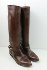 RUSSELL&BROMLEY Brown Leather Tall Boots size Eu 38