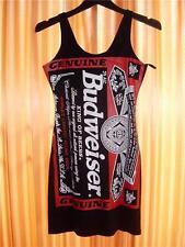 SEXY Black Budweiser MINI DRESS Short Skirt Tight Fitting Short Clubbing Dress