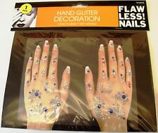 HAND GLITTER DECORATION SET SELF ADHESIVE BODY ART TATTOOS Flawless Nails