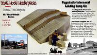 Scale Model Masterpieces/Yorke Piggyback Intermodal Concrete Yard Ramp Kit HO