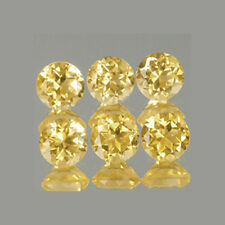 2mm 6pc Set Round Cut Accent Natural A Yellow CITRINE