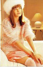 ~ Tejer patrón para Mujer Mohair Suéter con escote de ganchillo ~