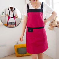 Newly Lady Kitchen Aprons Vintage Waterproof Home Restaurant Cooking Apron Dress