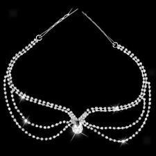 Charming Diamante Pendant Head Chain Forehead Crown Wedding Prom Hair Band
