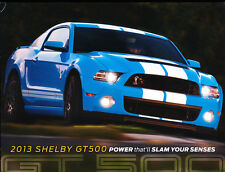 2013 Shelby GT500 -  1-page Car Sales Brochure Fact Card - Mustang