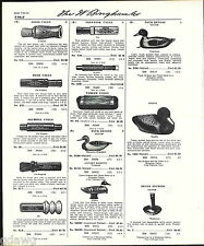 1960 ADVERT Voctor Ariduk Deeks Duck Decoys Calls Olt Scotch Lohman Wooden Call