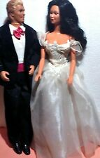 BARBIE & KEN DOLLS, ALL DRESSED FOR PROM NIGHT.