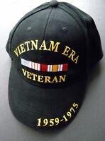 VIETNAM ERA VETERAN VET 1959 1975 USA EMBROIDERED BASEBALL CAP HAT