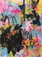Original Abstract Contemporary Modern Art Acrylic Canvas
