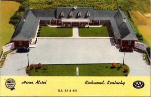 Linen Postcard Hines Motel in Richmond, Kentucky~137516