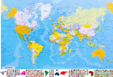 World Map Poster 36in x 24in