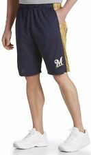 Milwaukee Brewers MLB Mens Majestic Performance Shorts Navy Big & Tall Sizes