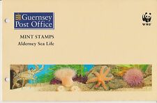 ALDERNEY PRESENTATION PACK 1993 WWF SEA LIFE STRIP STAMP SET MNH SG A56-A59