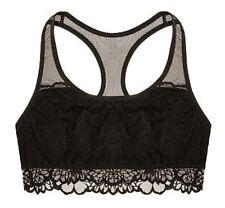 NWT Authentic Victoria Secret VS PINK Bralette Unlined Floral Lace Crop - XS