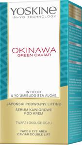 Yoskine Okinawa GREEN CAVIAR Serum Face & Eye Double Lift Anti Wrinkle 30ml