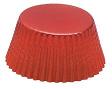 Fox Run Baking Cups, Red Foil, Mini (6967)