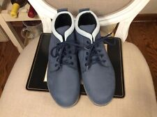 SAS Gretchen Women's  Navy/Light Blue Water Resistant Leather ankle bootie Sz 9W