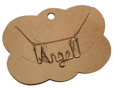 Personalized Necklace 14 k gold filled wire jewelry Any Name Handmade 18 inches
