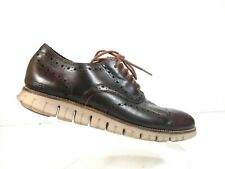 Cole Haan Zerogrand C23364 Men Brown Leather Wingtip Oxford Casual Shoes 11.5 M