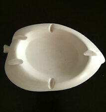 Ashtray and Paper Napkin Weight Holder HAND Sculpted Leaf Shape