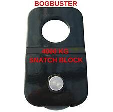BOGBUSTER SNATCH BLOCK 4000 kg WINCH ROPE CABLE PULLEY 4X4 4WD RECOVERY OFF ROAD
