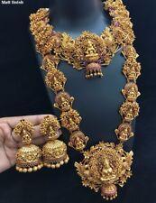 Indian 22K Gold Plated Necklace Handmade fine jewelry wedding Jewellery Set 1920