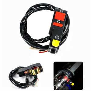 Electric Start Stop On Off Button Kill Switch Motorcycle Dirt ATV Quad Bike;FY