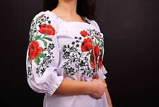 Ukrainian embroidered sorochka, women's blouse, vyshyvanka, embroidery, Size L