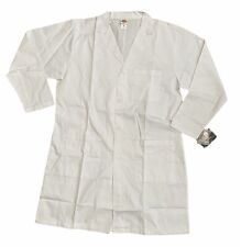 Dickies Lab Coat Sz Medium White Notched Collar Pockets Doctor Medical