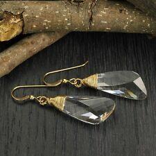 Hand Wrapped Original Swarovski Crystal 14k Gold Filled Women's Earrings X728